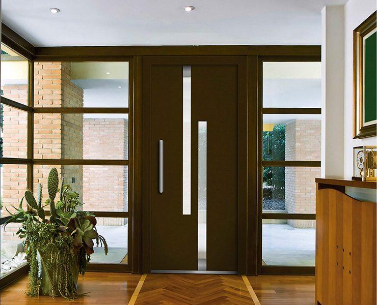 Puertas exteriores de aluminio beautiful model sol blind - Puertas aluminio exterior ...