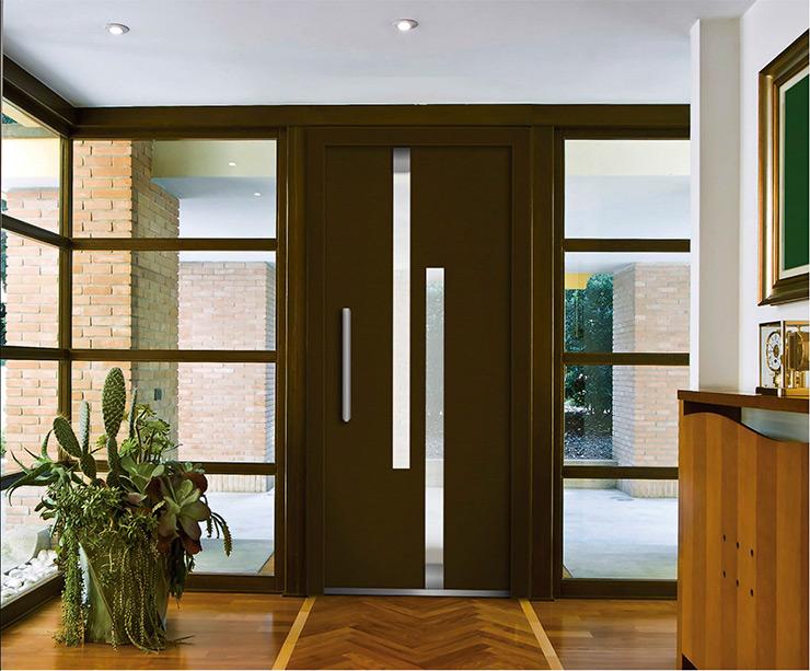 Aluminio la mejor opci n para tus puertas aluminios nou for Puertas principales para casas modernas