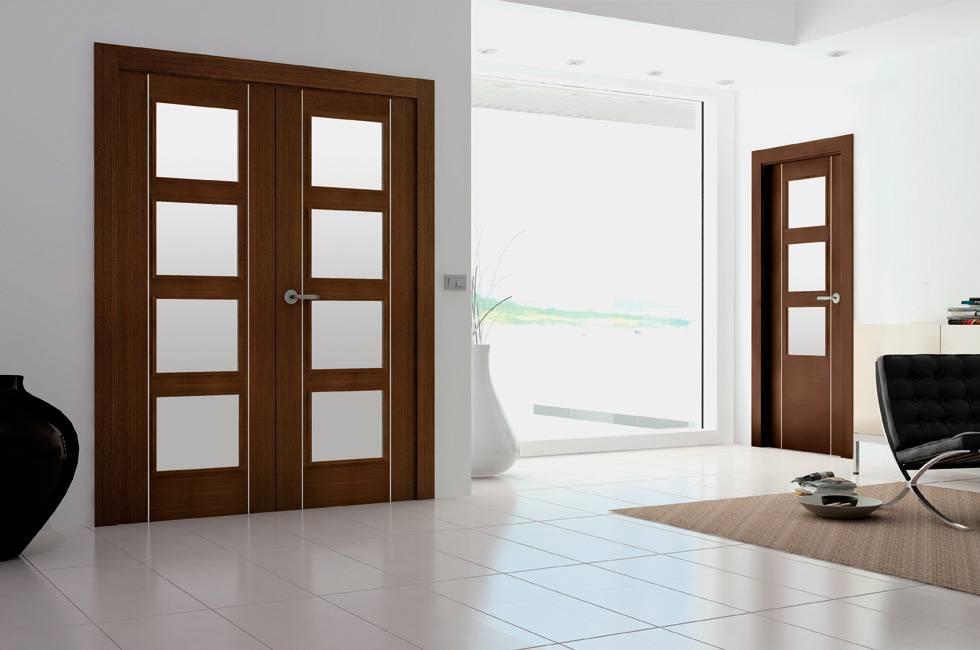 Puertas interiores de aluminio aluminios nou stil - Puertas de cocinas modernas ...