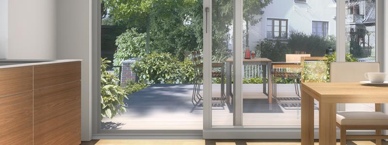 De aluminio en terrassa stunning aluminio terrassa for Puerta osciloparalela