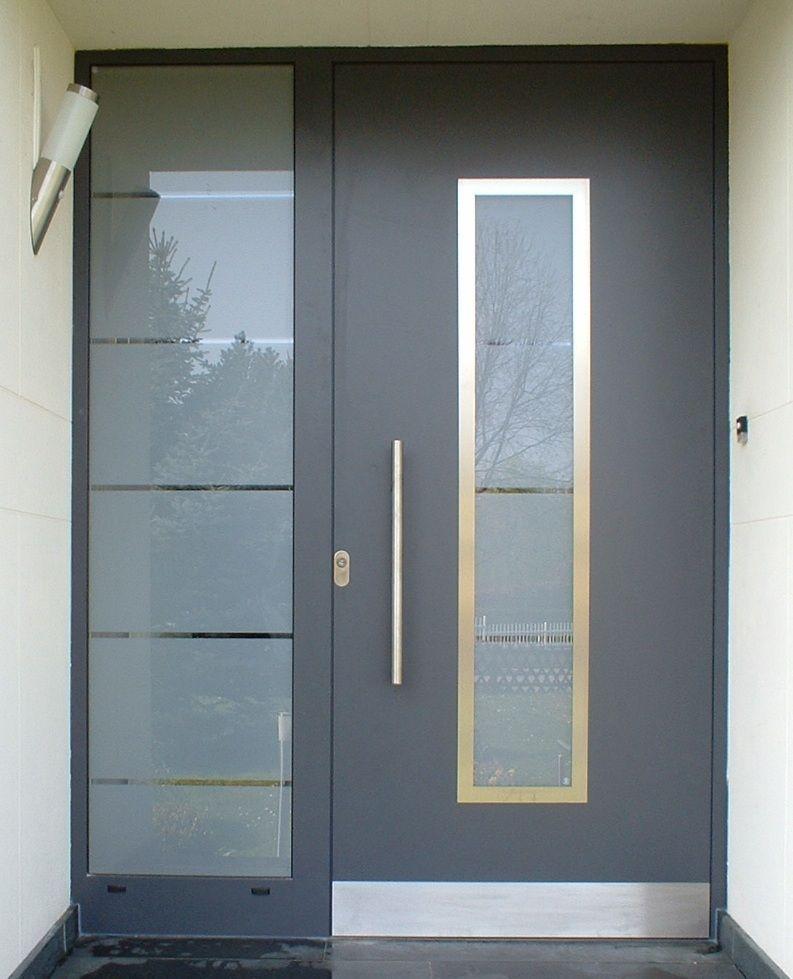 Puertas de aluminio aluminios nou stil for Puertas principales modernas 2016